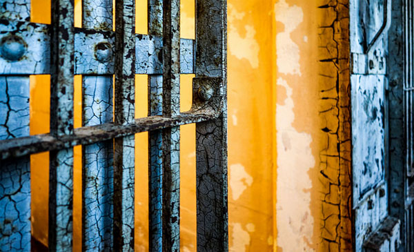 colorful jail cell