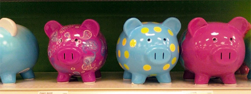 colorful piggy banks - Target