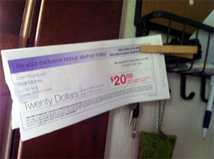 coupons near mail trick
