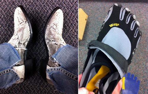cowboy boots & vibram fivefingers