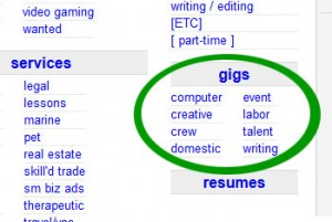 craigslist gigs section