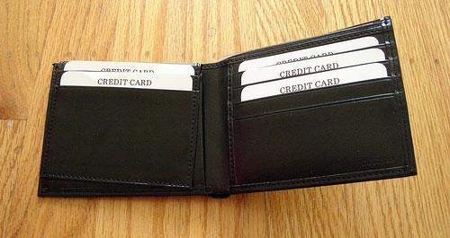 wallet with tons of credit cards