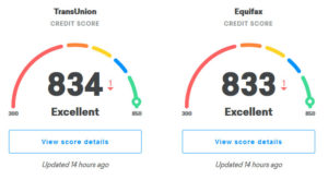 credit karma updated score