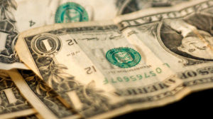 crinkly dollar bills