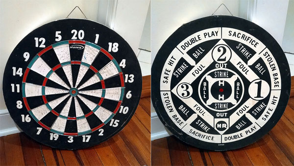 dart board sold