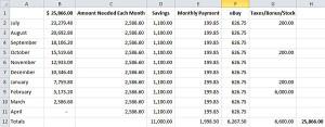 debt pay off spreadsheet