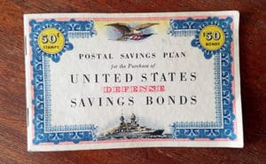 defense savings bonds stamp booklet