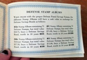 defense stamp albums