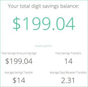 digit savings update