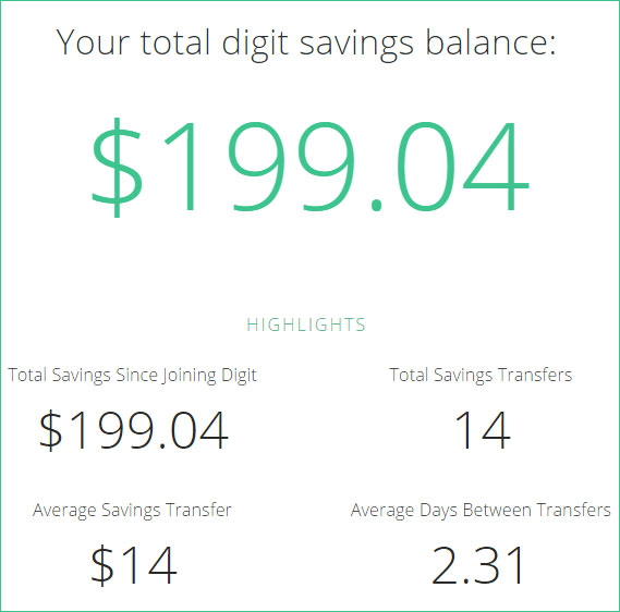 digit savings update