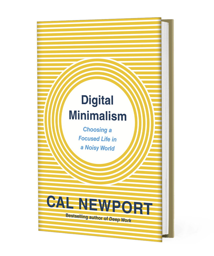 digital minimalism book - cal newport