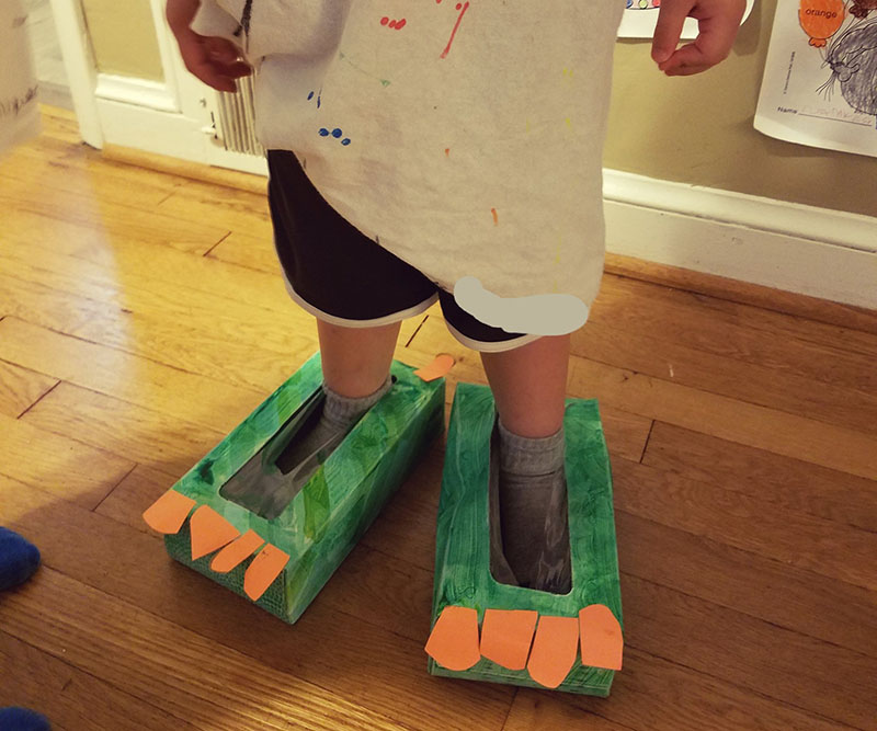 dinosaur feet diy