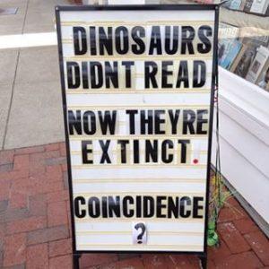 dinosaurs extinct didn't read