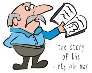 dirty old man cartoon