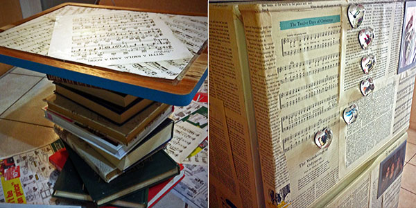 diy coffee book table - paper fridge