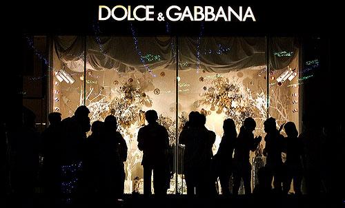 Dolce & Gabbana store sign