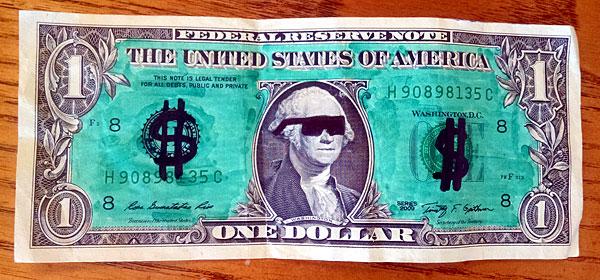 dollar bookmark