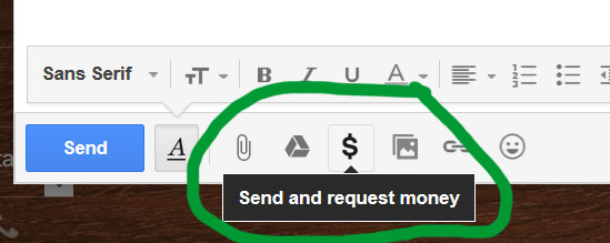 dollar sign gmail compose