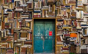 door to books