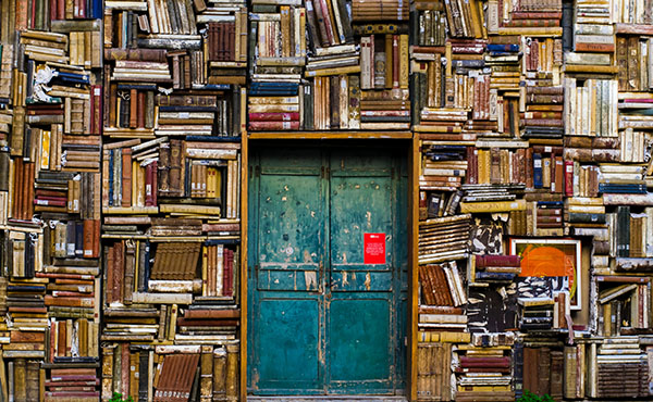 door to books