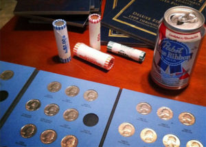 drinking and coin collecting