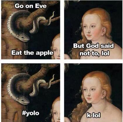 eat the apple eve #yolo