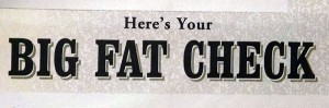 ebates big fat check