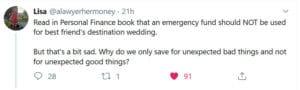 emergency fund wedding