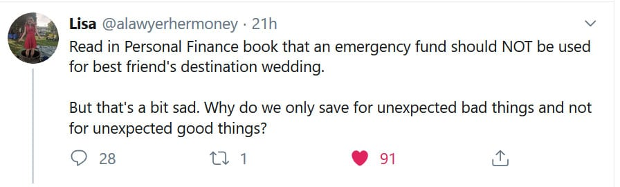 emergency fund wedding