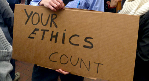your ethics count sign