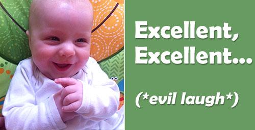 evil laugh baby