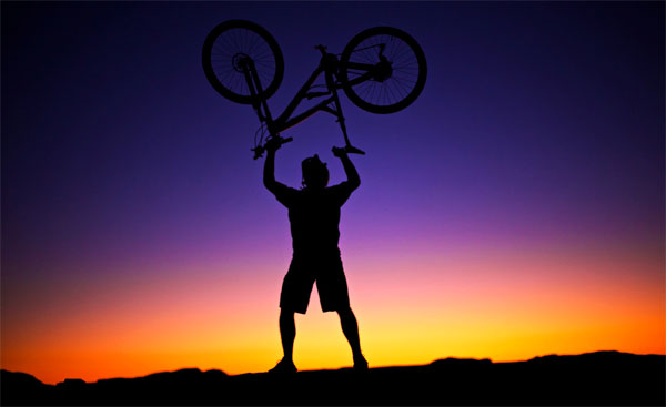 extreme sunset biker