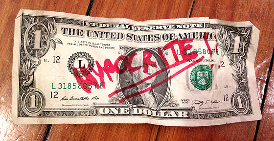 financial hypocrite