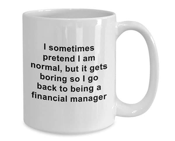 financial manager coffee mug