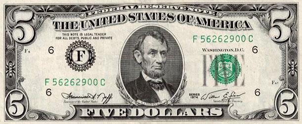 old $5 bill