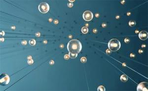 floating light bulbs