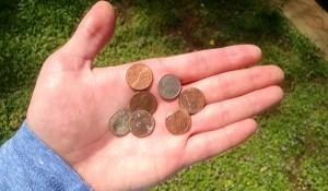 found pennies walk