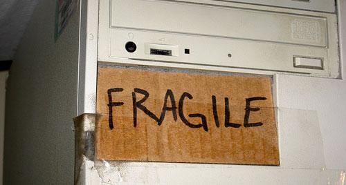 fragile computer