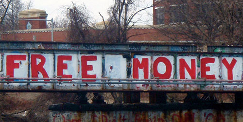 free money graffiti