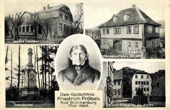 friedrich froebel postcard