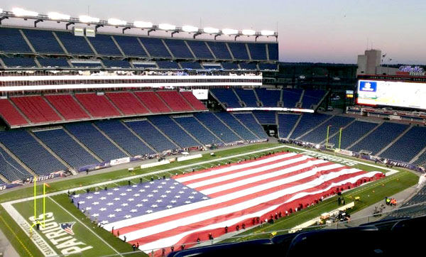 gillette stadium flag