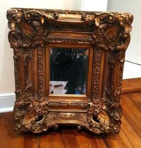 gold ornate mirror