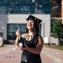 graduation bubbly