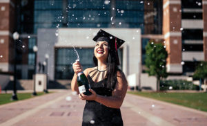 graduation bubbly