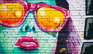 graffiti woman wall