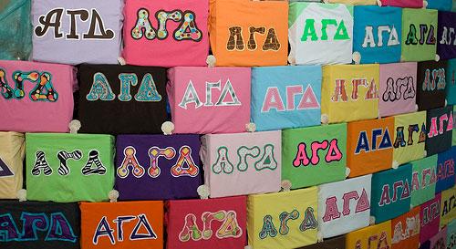 greek letters t-shirts