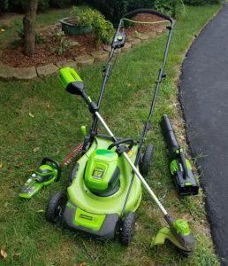 greenworks lawn tools