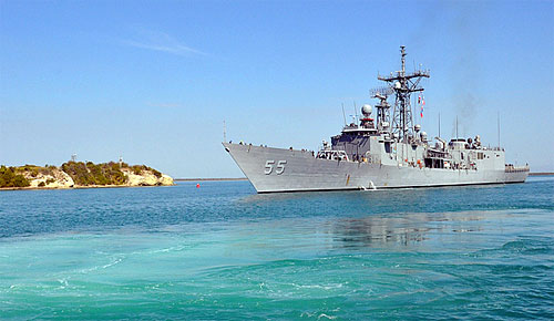 Guantanamo Bay, Cuba - water & ship