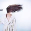 hairdryer in face
