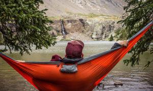 hammock relaxing waterfall